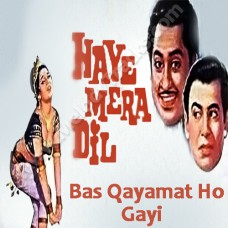 Bas qayamat ho gai - Karaoke Mp3 - Haye Mera Dil - Kishore Kumar