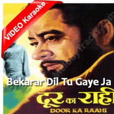 Beqarar Dil - Mp3 + VIDEO Karaoke - Kishore Kumar