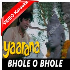 Bhole o bhole - Mp3 + VIDEO Karaoke - Kishore Kumar