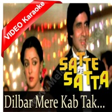 Dilbar mere kab tak - Mp3 + VIDEO Karaoke - Kishore Kumar