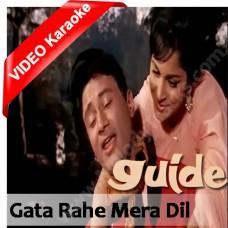 Gata rahe mera dil - Mp3 + VIDEO Karaoke - Kishore Kumar - Lata