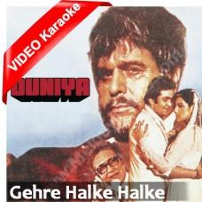 Gehre Halke Halke Gehre - Mp3 + VIDEO Karaoke - Kishore Kumar - Lata