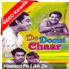 Hawaon pe likh do - Mp3 + VIDEO Karaoke - Kishore Kumar