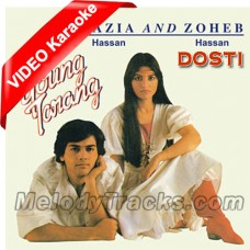 Dosti - Original Version - Mp3 + VIDEO Karaoke - Nazia Hassan - Zohaib Hassan