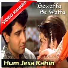 Hum Jesa Kahin Aapko Dilbar - Mp3 + VIDEO Karaoke - Lata - Bewaffa Se Waffa