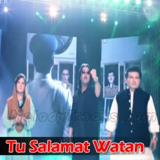 Tu Salamat Watan - With Chorus - Karaoke Mp3 - Pakistani National Patriotic - Shafqat Amanat - Sahir Ali Bagga