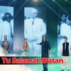 Tu Salamat Watan - Without Chorus - Karaoke Mp3 - Pakistani National Patriotic - Shafqat Amanat - Sahir Ali Bagga