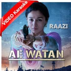 Ae Watan Watan Mere Aabad - Mp3 + VIDEO Karaoke - Sunidhi Chauhan