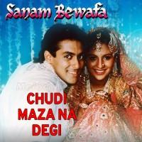 Chudi Maza Na Degi - Karaoke Mp3 - Lata Mangeshkar - Sanam Bewafa 1991