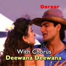 Teri Aankhon Ka Deewana Deewana - With Chorus - Karaoke Mp3 - Abhijeet Bhattacharya - Sadhna Sargam