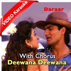 Teri Aankhon Ka Deewana Deewana - With Chorus - Mp3 + VIDEO Karaoke - Abhijeet Bhattacharya - Sadhna Sargam