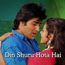 Din Shuru Hota Hai Tere Naam Se - Karaoke Mp3 - Asha Bhosle - Mohammed Aziz - Zulm Ko Jala Doonga 1988