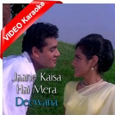 Jaane Kaisa Hai Mera Deewana - Mp3 + VIDEO Karaoke - Kishore Kumar - Asha Bhosle
