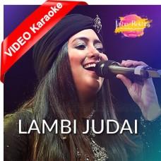 Lambi Judai - Live - Mp3 + VIDEO Karaoke - Hashdeep Kaur - Jashan e Rekhta
