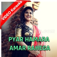 Pyar Hamara Amar Rahe Ga - Cover - Mp3 + VIDEO Karaoke - Debolinaa Nandy - Debashis Vaidya