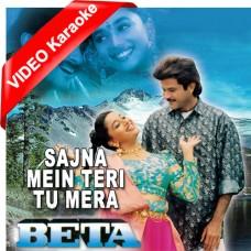 Sajna Main Teri Tu Mera - Mp3 + VIDEO Karaoke - Vipin Sachdeva - Anuradha Paudwal - Beta 1992