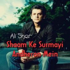 Sham ke Surmai Andheron Mein - Karaoke Mp3 - Ali Sher