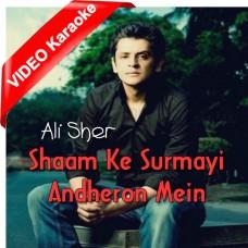 Sham ke Surmai Andheron Mein - Mp3 + VIDEO Karaoke - Ali Sher