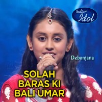 Solah Baras Ki Bali Umer - Indian Idol - Karaoke Mp3 - Debanjana - Indian Idol Junior 2020
