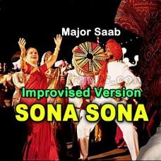 Sona Sona Dil Mera Sona - Improvised Version - Karaoke Mp3 - Sudesh - Sonu - Jaspinder - Amitabh