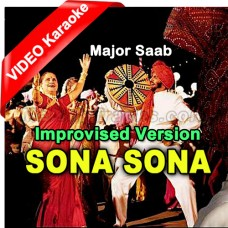 Sona Sona Dil Mera Sona - Improvised Version - Mp3 + VIDEO Karaoke - Sudesh - Sonu - Jaspinder - Amitabh