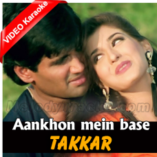 Aankhon mein base ho tum - Mp3 + VIDEO Karaoke - Kumar Sanu - Takkar