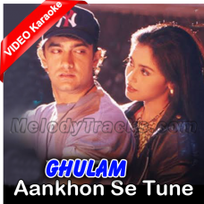 Aankhon se tune ye kya keh diya - Mp3 + VIDEO Karaoke - Kumar Sanu
