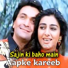 Aapke kareeb hum rehte hain - Karaoke Mp3 - Kumar Sanu - Saajan Ki Baahon Mein