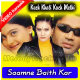 Saamne Baith Kar - Mp3 + VIDEO Karaoke - Kuch Khatti Kuch Meethi - 2001 - Kumar Sanu