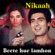 Beete hue lamhon ki kasak - Karaoke Mp3 - Mahendra Kapoor