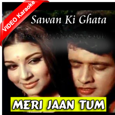 Meri Jaan Tum Pe Sadke - Mp3 + VIDEO Karaoke - Mahendra Kapoor - Sawan Ki Ghata 1966