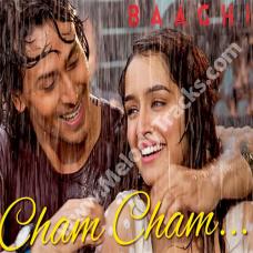 Cham Cham - Karaoke Mp3 - Baaghi - MeetBros - Monali Thakur