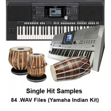 Yamaha Keyboards Indian Kit  User DK (Tabla Drum Kit) Samples - Single hit Bols - (High Quality .WAV Format 14.100 kHz, 24 Bit) - 84 Files