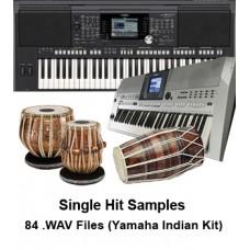 Yamaha Keyboards Indian Kit  User DK (Tabla Drum Kit) Samples - Single hit Bols - (High Quality .WAV Format 14.100 kHz, 24 Bit) - 84 Files